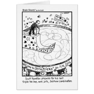 Brain Shorts Geriactricks on ice by Jim Kraft Greeting Card
