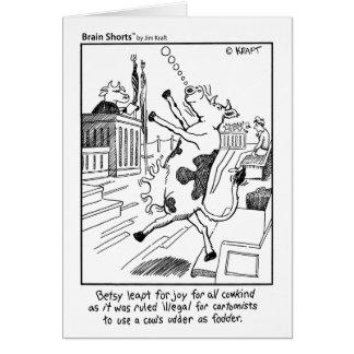 Brain Shorts Udder fodder by Jim Kraft Greeting Cards