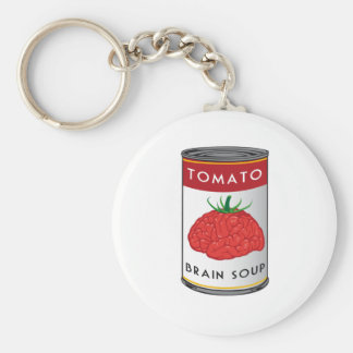 brain soup basic round button key ring