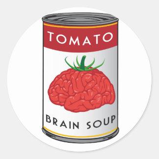 brain soup classic round sticker
