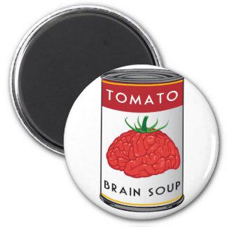 brain soup fridge magnet