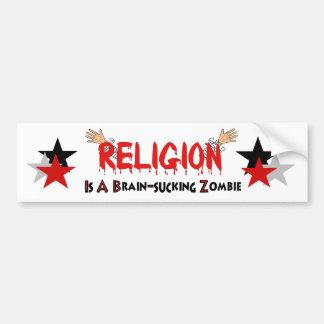 Brain-Sucking Zombie Bumper Sticker