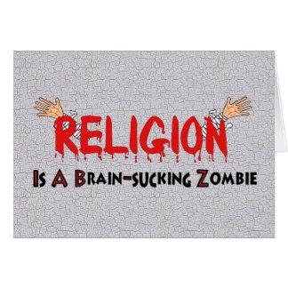 Brain-Sucking Zombie Greeting Card