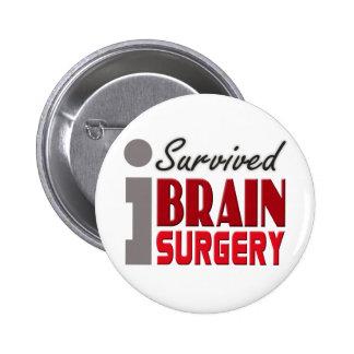 Brain Surgery Survivor Button