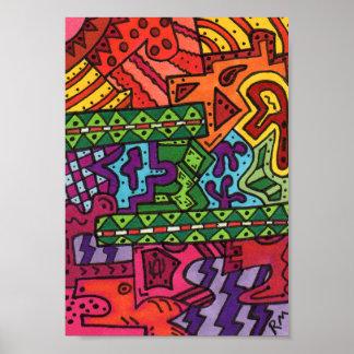 Brain Terrain #36 Abstract Art Mini Poster