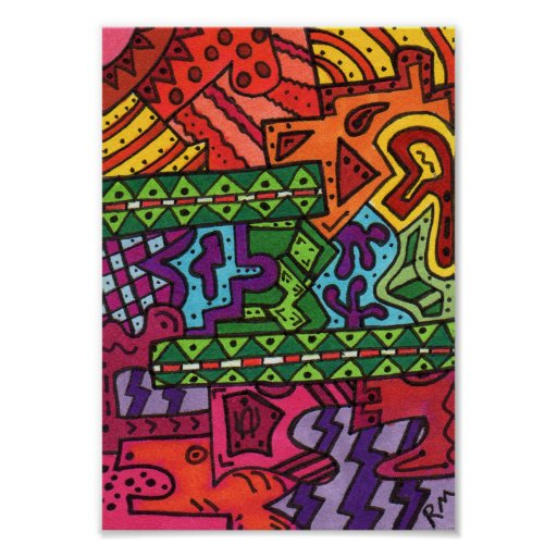 Brain Terrain #36 Abstract Art Mini Poster