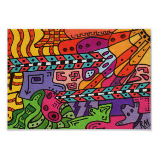 Brain Terrain #37 Abstract Art Mini Poster