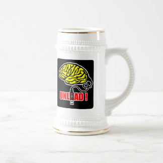 Brain to unload beer stein