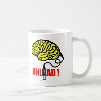 Brain to unload coffee mug