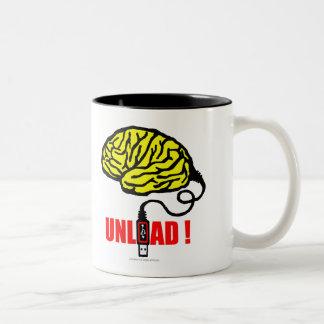 Brain to unload Two-Tone coffee mug