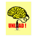 Brain to unload post card