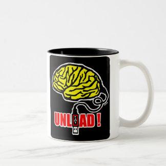 Brain to unload Two-Tone mug