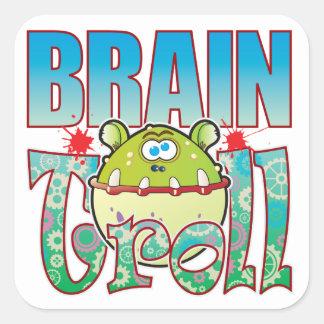 Brain Troll Square Sticker