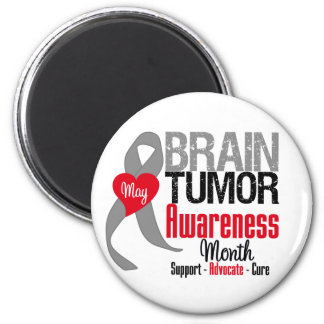 Brain Tumor Awareness Month 6 Cm Round Magnet