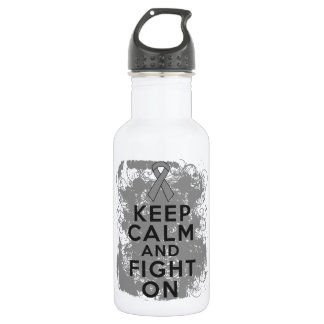Brain Tumor Keep Calm and Fight On 532 Ml Water Bottle