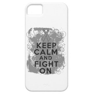 Brain Tumor Keep Calm and Fight On iPhone 5 Cases