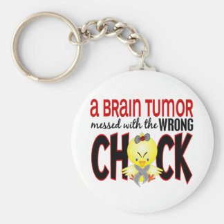 Brain Tumor Messed With The Wrong Chick Key Ring