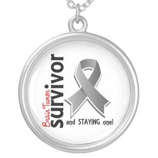 Brain Tumor Survivor 19 Silver Plated Necklace