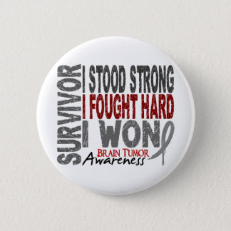 Brain Tumor Survivor 4 6 Cm Round Badge