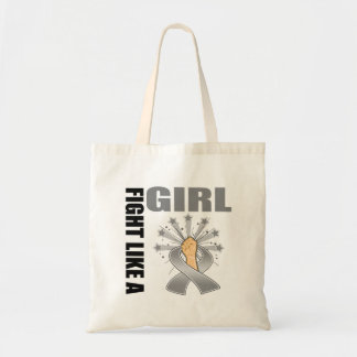 Brain Tumor Victory Fight Like A Girl Canvas Bag