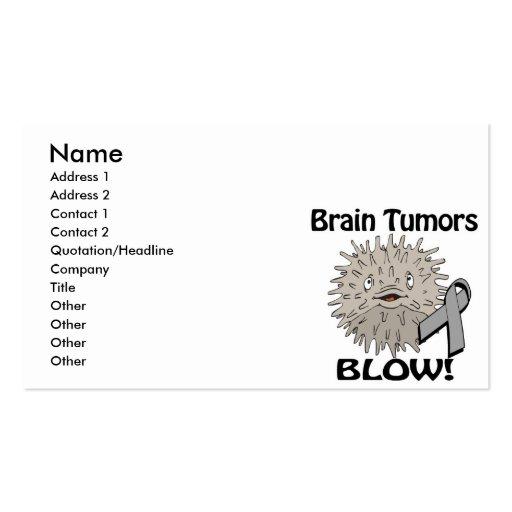 Brain Tumors Blow Awareness Design Business Card Templates