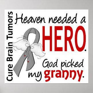 Brain Tumors Heaven Needed a Hero Granny Poster
