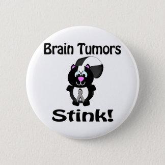 Brain Tumors Stink Skunk Awareness Design 6 Cm Round Badge