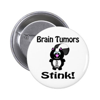 Brain Tumors Stink Skunk Awareness Design 6 Cm Round Badge