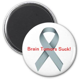 Brain Tumors Suck 6 Cm Round Magnet