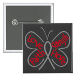 Brain Tumour Butterfly Inspiring Words 15 Cm Square Badge