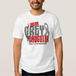 Brain Tumour I Wear Grey For My Daughter 6.2 Tee Shirt