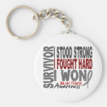 Brain Tumour Survivor 4 Basic Round Button Key Ring