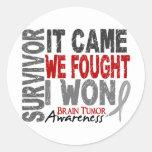 Brain Tumour Survivor It Came We Fought I Won Round Sticker