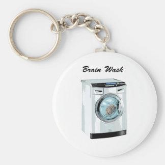 Brain Wash Basic Round Button Key Ring