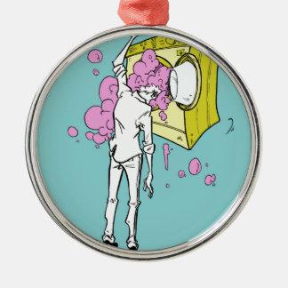 brain wash Silver-Colored round decoration