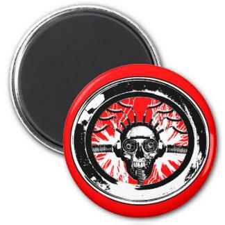 Brain wash wash wash round 6 cm round magnet