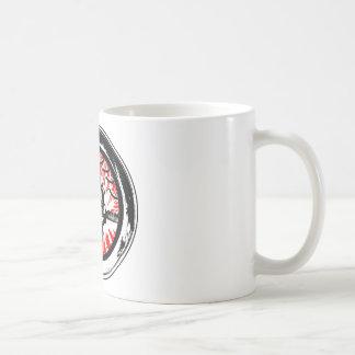 Brain wash wash wash round basic white mug