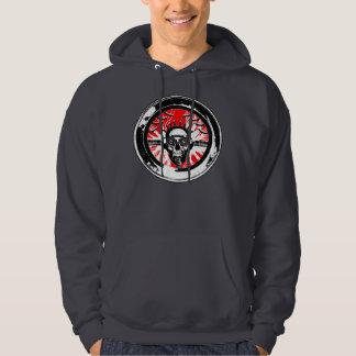 Brain wash wash wash round hooded sweatshirts