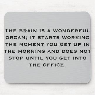 Brain & work fun mouse pad