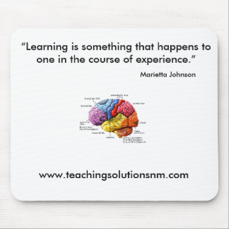 "brain, www.teachingsolutionsnm.com, ""Learning i... Mouse Mat"