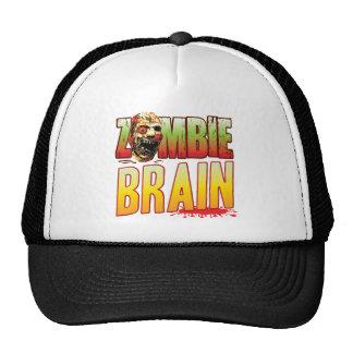 Brain Zombie Head Trucker Hat