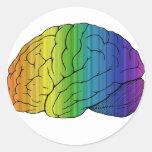 Brainbow Round Sticker