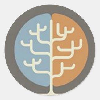 Brainfood Braintree Logo Round Sticker