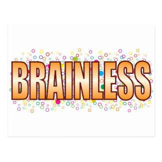 Brainless Bubble Tag Postcard