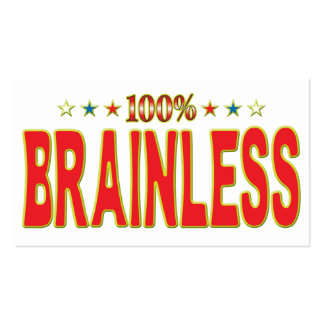 Brainless Star Tag Pack Of Standard Business Cards