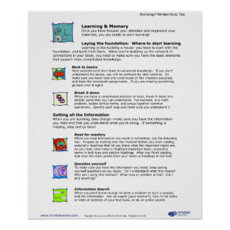 Brainology® Poster 5: Learning and Memory