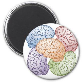 Brains 6 Cm Round Magnet