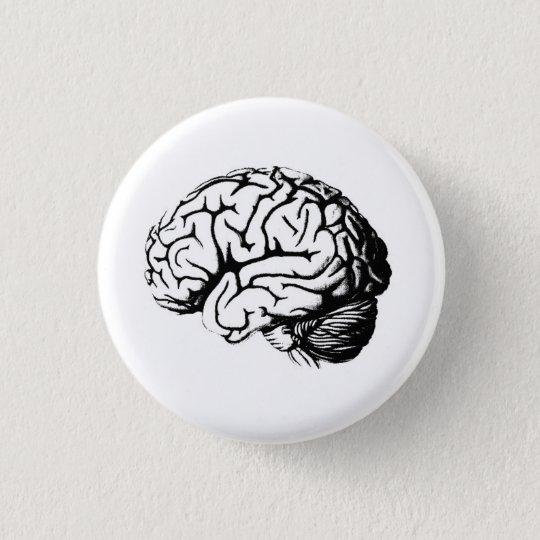 Brains are hot. 3 cm round badge