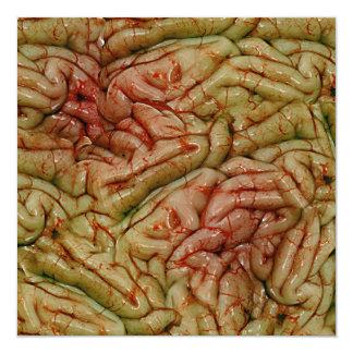 Brains, BrainZZ BRAINZZZ 13 Cm X 13 Cm Square Invitation Card
