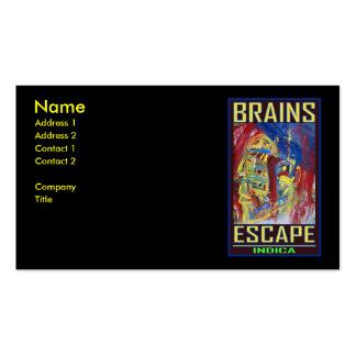 BRAINS ESCAPE INDICA BUSINESS CARD TEMPLATE